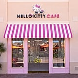 The adorable entrance of the Hello Kitty Grand Cafe.