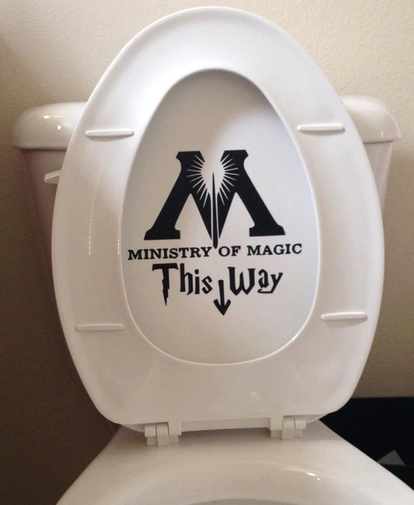 Ministry of Magic Toilet Harry Potter Decal