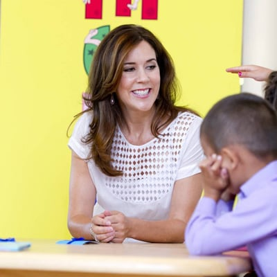 Princess Mary Pictures Visiting a School in Copenhagen