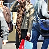 Bar Refaeli Gets In the Holiday Shopping Spirit