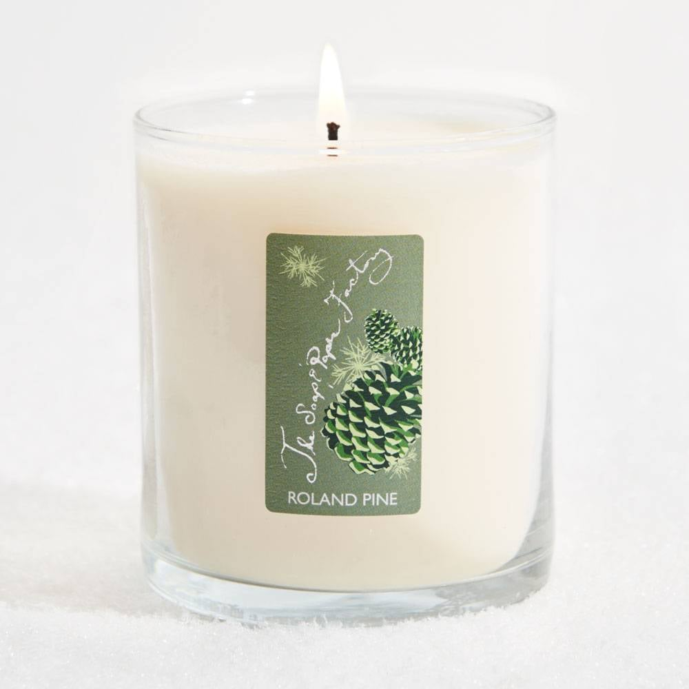 Large Roland Pine Candle