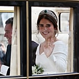 Princess Eugenie Waving in the Carriage in 2018
