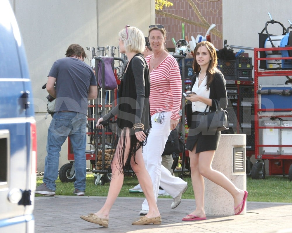 Emma Watson on the set of The Bling Ring in Lynwood, CA.