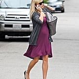 Reese Witherspoon chatted on the phone while crossing the street in Brentwood.