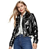 Nine West Faux-Leather Trucker Jacket
