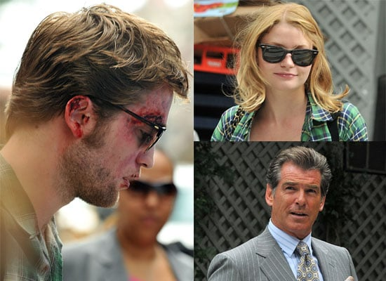 Bruised and Bloody Robert Pattinson, Emilie De Ravin, Pierce Brosnan Filming Remember Me