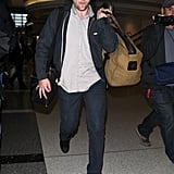 Robert Pattinson Leaving LAX Pictures