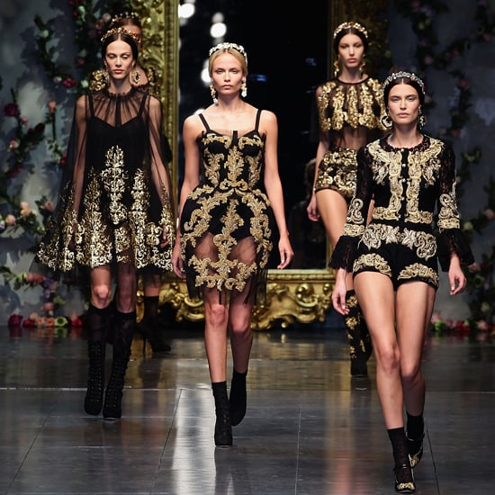 dolce and gabbana stage first couture show 2012 popsugar. Black Bedroom Furniture Sets. Home Design Ideas