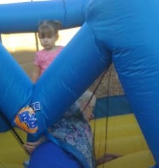 Granny Gets Stuck in Bounce House