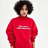 Zara Sweatshirt With Text