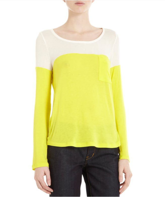 Who says colorblocking has to be complicated? This Splendid colorblocked tee ($78) makes it easy to get the look, even with your jeans.