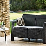 Keter Corfu Love Seat All Weather Outdoor Patio Garden Furniture