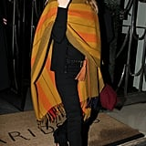 Kate Moss steps out of Claridge's hotel.