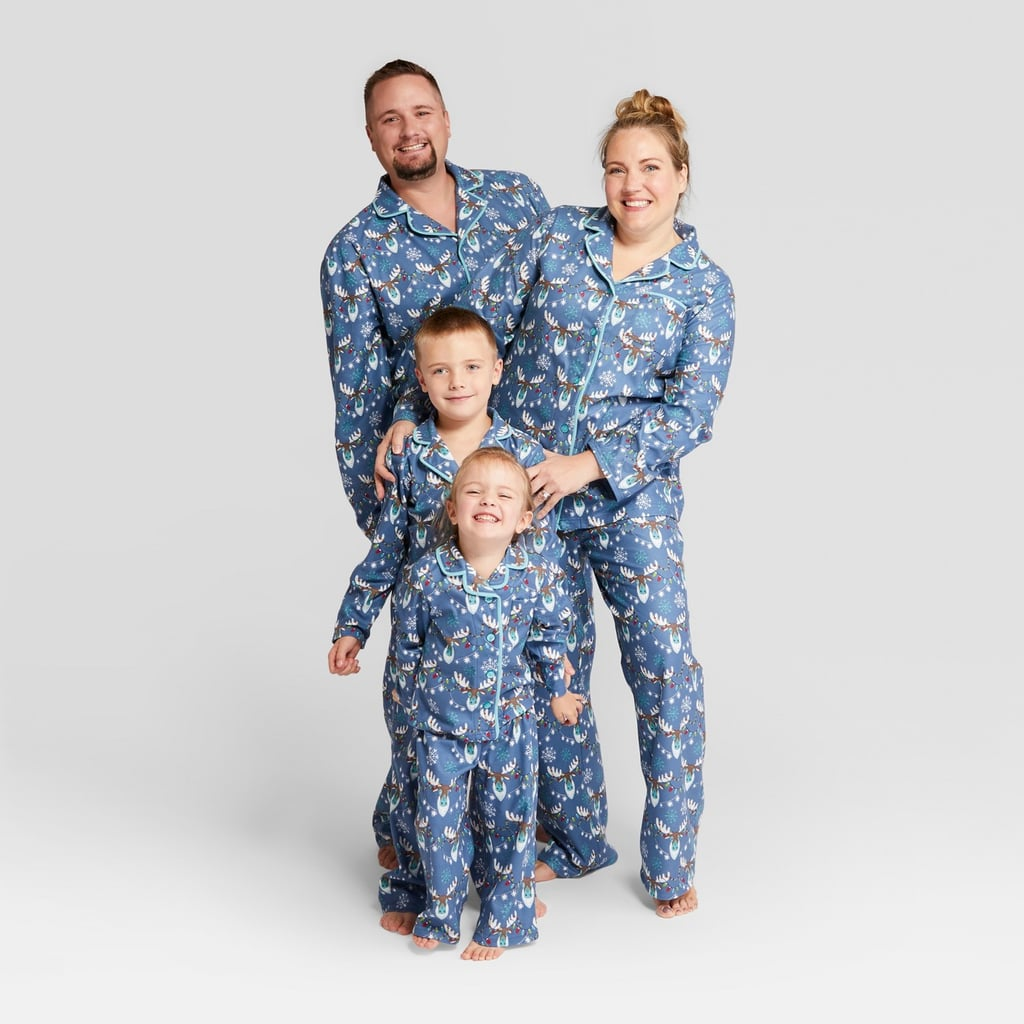 99f3778a67 Nite Nite Munki Munki Holiday Moose Notch Collar Family Pajamas Collection