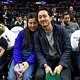 Steven Yeun at LA Clippers Game November 2016