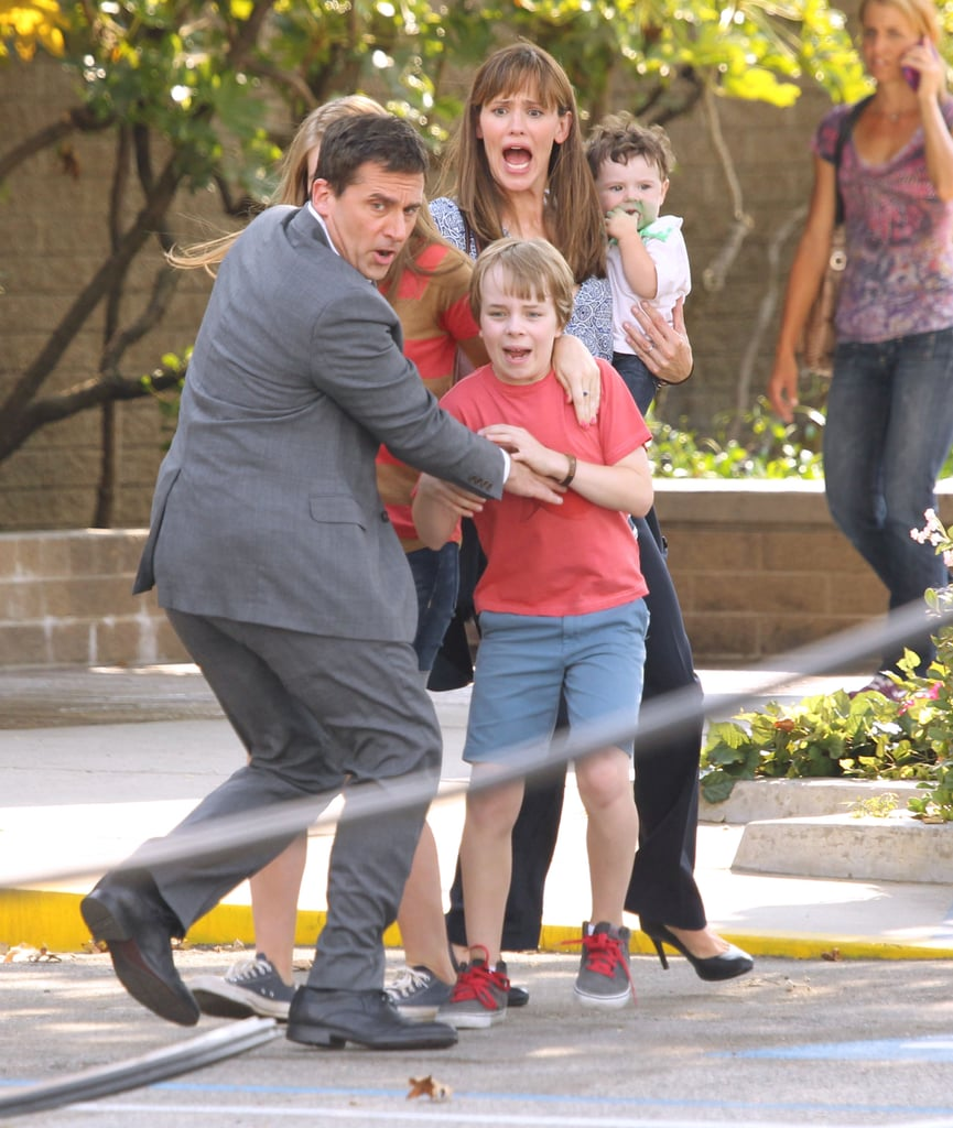 Funny Face! Jennifer Garner and Steve Carell Get Animated on Set
