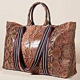 Greta Snake-Printed Tote Bag