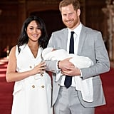 May: Meghan and Harry appeared for the first time with their newborn son, Archie.