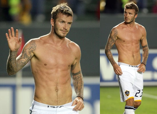 Photos of Shirtless David Beckham