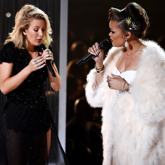 Ellie Goulding and Andra Day at Grammys 2016