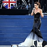 Cheryl Cole performed for the Queen at the Diamond Jubilee concert in London.