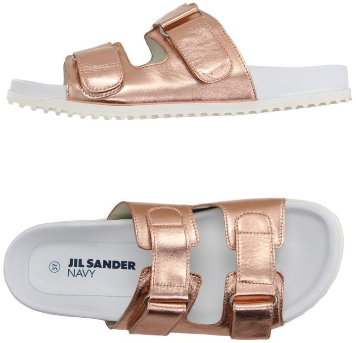 Buckle up! Jil Sander Navy Sandals ($200) are ready for your soles.