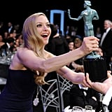 Amanda Seyfried got goofy with a SAG in 2013.