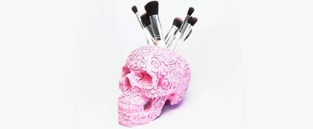 Skull Makeup Brush Holders