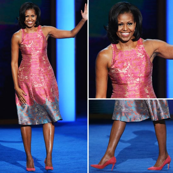 Let's take one more look at Michelle Obama's perfect Tracy Reese dress at the Democratic National Convention.