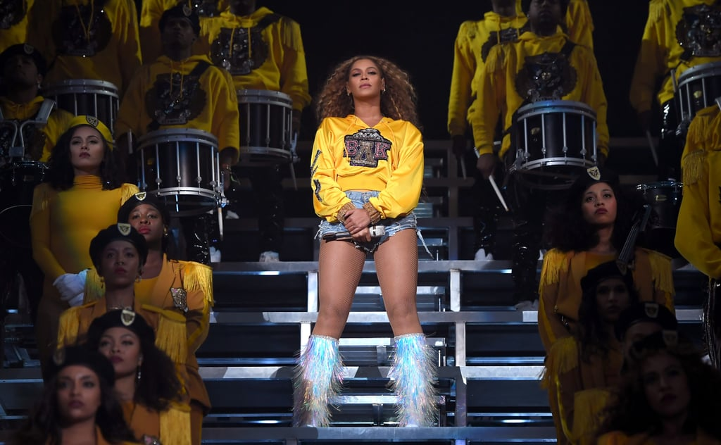"Last year, Beyoncé commanded the stage with an incredible performance at Coachella, dazzling the crowd with a bevy of hits including ""Formation,"" ""Sorry,"" ""Crazy in Love,"" and ""Drunk in Love."" And now, she's taking us behind the scenes of the iconic performance through her Netflix documentary Homecoming and an accompanying album, Homecoming: The Live Album. In 2018, Beyoncé made history as Coachella's first black female headliner, and her two-hour-long performance paid homage to HBCU traditions, marching bands, probates, and step competitions. The singer wore not one, but five custom Balmain designs during her set. As you get ready to watch the documentary (or rewatch for the second time), relive every moment from Beyoncé's Coachella performance in photos here.      Related:                                                                                                           Good Luck Keeping Up With All These Fun Snaps of Stars at Coachella!"