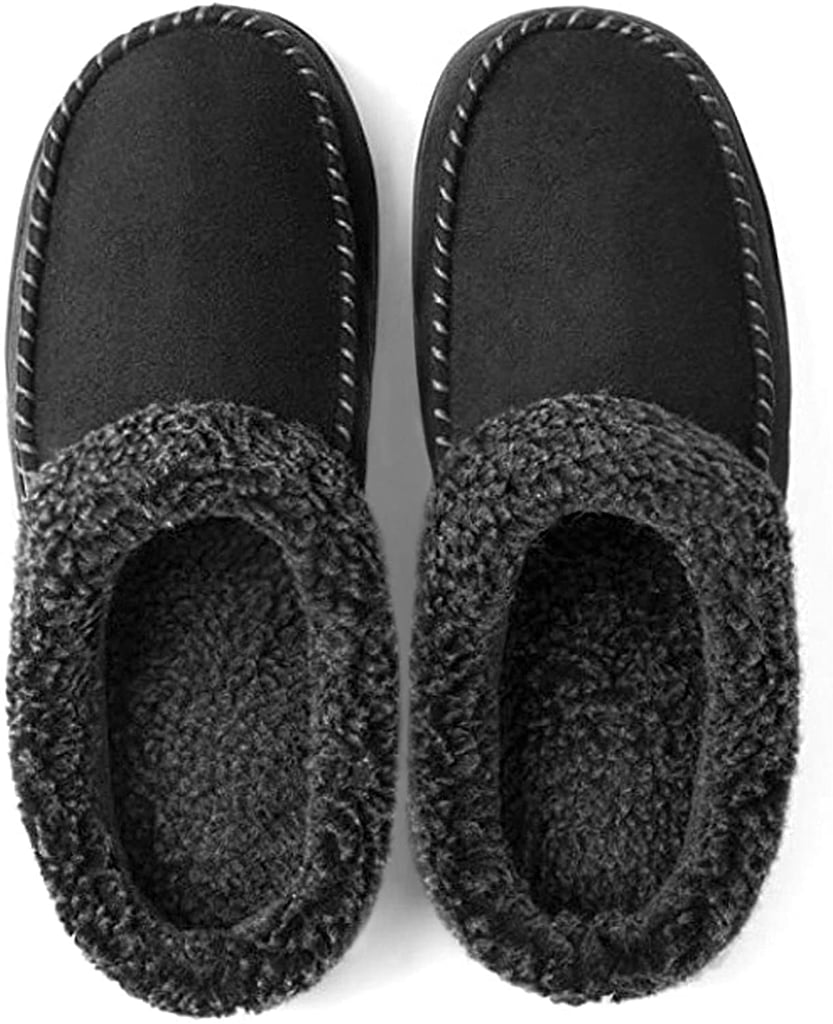 Ultraideas Cozy Memory Foam Moccasin Suede Slippers