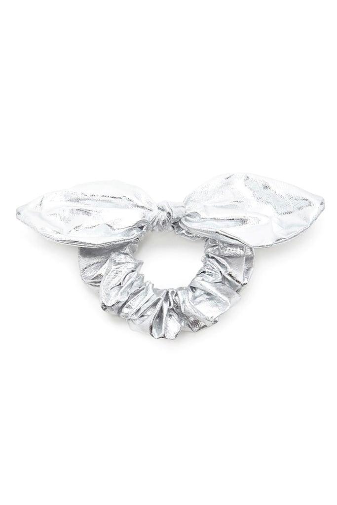 Metallic Bow Scrunchie ($4)