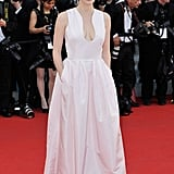 Jessica Chastain smiled at the opening of the Cannes Film Festival and the premiere of Moonrise Kingdom.