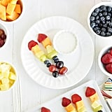 Fruit Kebobs With Yogurt Dip