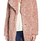 Kensie Teddy Bear Faux Fur Coat