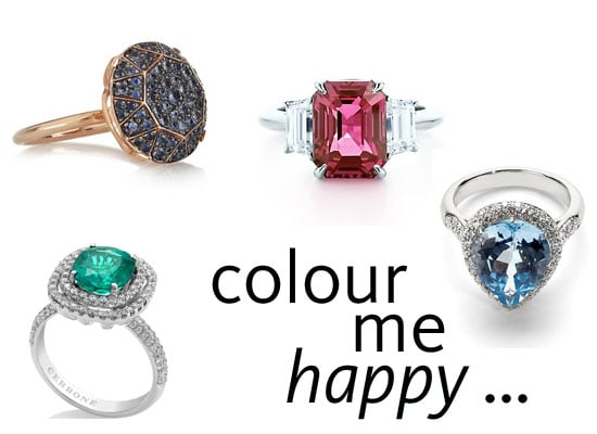 Shop Our Top 10 Coloured Stone Engagement Rings From