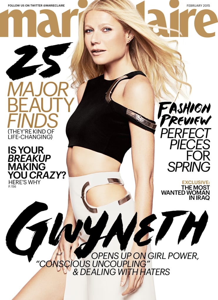 Gwyneth Paltrow opened up about her current relationship with estranged husband Chris Martin in the February issue of Marie Claire, which hits newsstands on Jan. 13. While the couple announced their separation in March 2014, she revealed that they still maintain a very close friendship. Gwyneth also opened up about her career aspirations with her lifestyle site, Goop, as well as her opinion on women's productivity vs. men's. Keep reading for more from Gwyneth's interview.