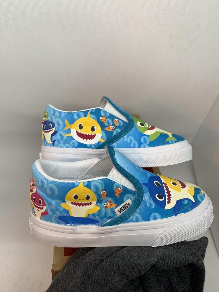 Custom Underwater Baby Shark Kids Vans