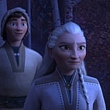 "In the latest batch of images released by Disney, we meet three members of the nomadic Northuldra people, who live in the Enchanted Forest beyond Arendelle. Honeymaren (on the left), voiced by Rachel Matthews, who ""is a true free spirit and wants nothing more than to bring peace to the enchanted forest."" Standing beside her is her brother, Ryder (Jason Ritter), who ""embraces life with optimism"" and longs to roam the great plains beyond the Enchanted Forest. Finally, on the right, is Yelana, who Disney describes as the ""unspoken leader"" of the Northuldra. She is fiercely protective of her family and community but is known to soften when people show an understanding of nature and their environment."" She's voiced by Martha Plimpton, and will no doubt factor heavily into Elsa's big adventure."