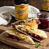 Turkey, Stuffing, and Cranberry Quesadilla