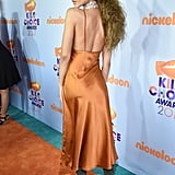 Zendaya Wearing Orange Dress at the Kids' Choice Awards
