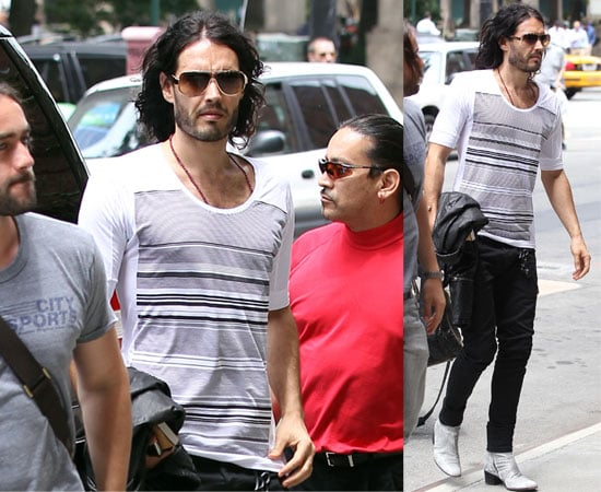 Pictures of Russell Brand in New York