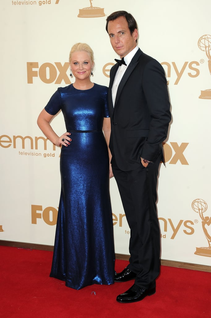 Will Arnett and Amy Poehler at the 2011 Emmys.