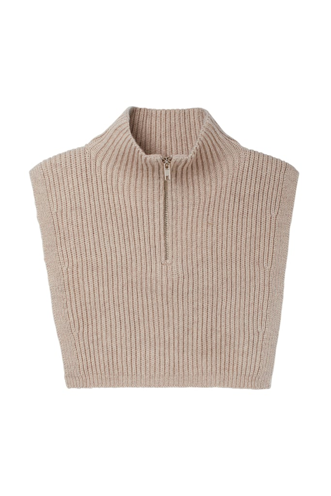 Knit Collar With Zipper