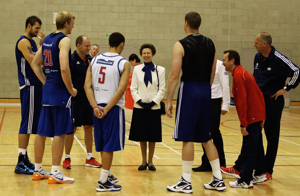 Princess Anne met members of Great Britain's basketball team on July 4.