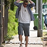 Chris Hemsworth headed out solo.