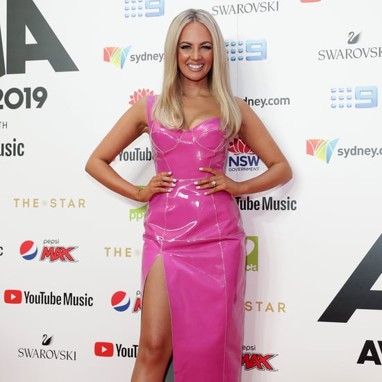 Samantha Jade Hot Pink ARIAs Dress 2019 Pictures