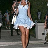 Elisabetta Canalis completed her Wizard of Oz look with a Toto look-alike!
