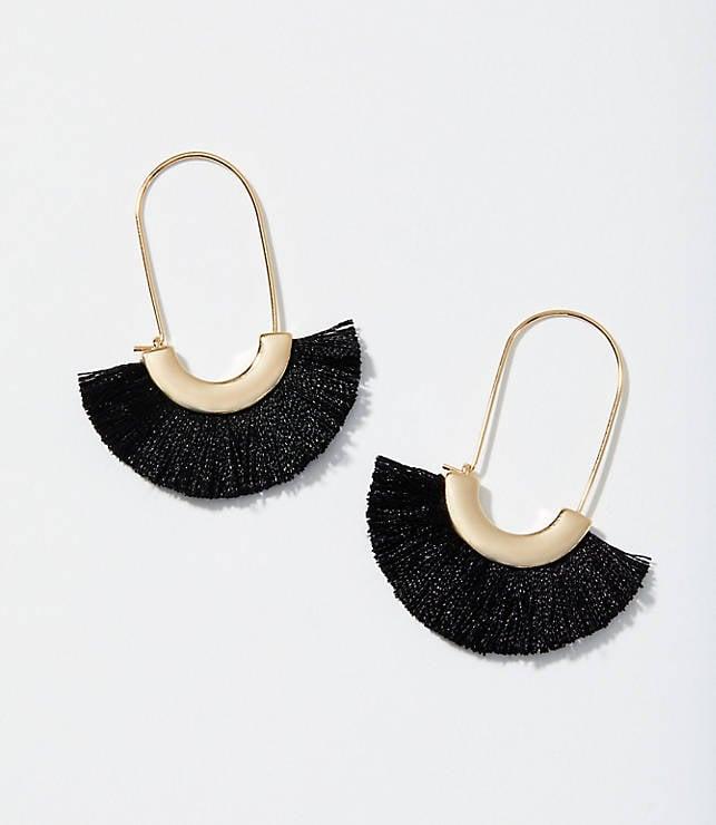 Fringe Fan Drop Earrings