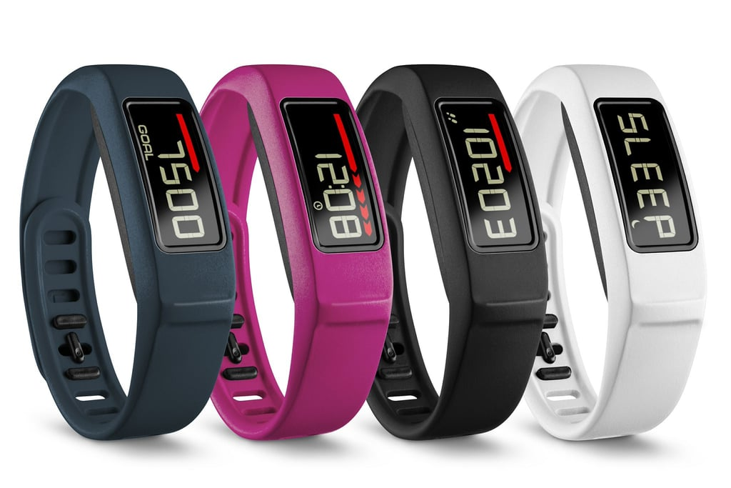 The new Garmin vivofit2 ($130) comes in navy, pink, black, or white.
